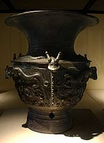 Wine vessel from the Shang Dynasty.jpg